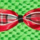 Red Plaid Bow with clip