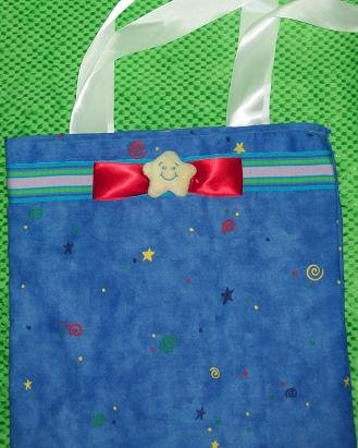 Super Duper Cute Rainbow Star Tote With Plushy Start On Front