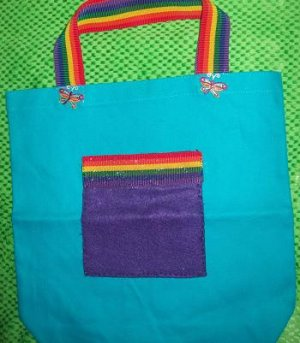 Rainbow FireFly Tote with glitter