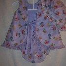 Purple tie die look 3 piece set, size 0-6 mo.