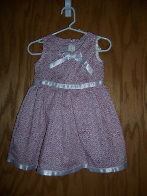 Red and white ribbon dress size 1