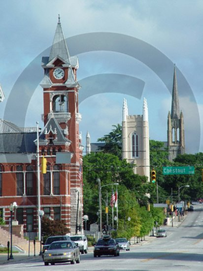 The Three Steeples - 3071 - 8x10 Framed Photo