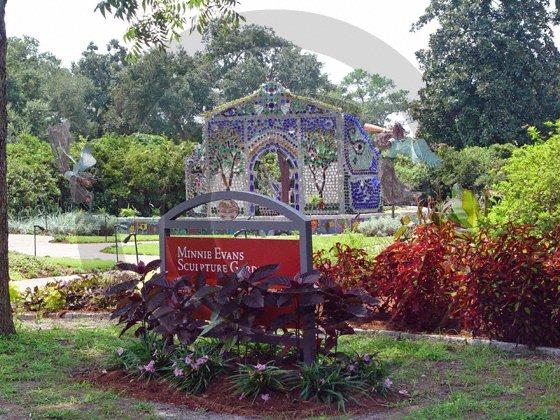 Bottle House - Airlie Gardens - 8006 - 8x10 Framed Photo