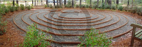 Labyrinth at the Hospice Care Center - 8029 - 8x10 Framed Photo