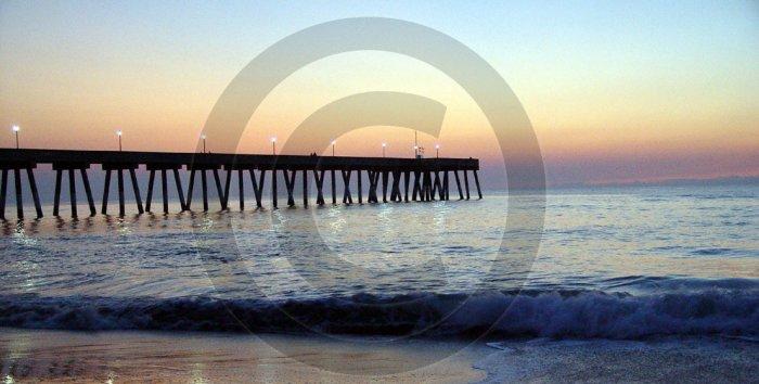 Pre-Dawn - Johnnie Mercer's Pier - 1007 - 8x10 Framed Photo