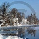 Winter on Unadilla River - 7099 - 11x17 Framed Photo