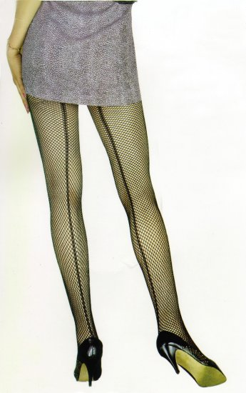 Back Seam Fishnet Hose