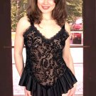 Flock Chiffon Baby Doll with Ruffled Flounce. Matching Panty.