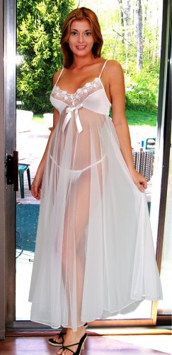 Sheer Long Gown. Matching Panty