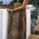 Animal Print Long Gown