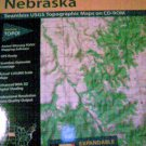 National Geographic Topo Map of Nebraska 5 CDs