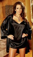 2 Piece Satin Babydoll & Robe Set