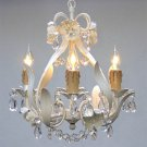 WROUGHT IRON FLORAL CHANDELIER