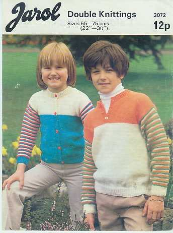 Knitting pattern for Jumper or cardigan with stripes Jarol 3072