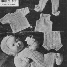 Vintage Knitting pattern for baby boy doll outfit. Bestway 1561.PDF