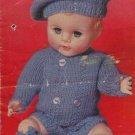 Vintage knitting pattern for boy dolls/reborns. Bestway 3825