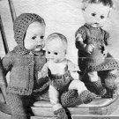 Vintage Knitting pattern for Dolls/reborn outfits Scotch wool shop 973 PDF