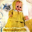 Vintage knitting pattern for Doll layette. Womans weekly 1962. PDF