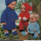 Vintage knitting pattern for dolls outfits 12 - 16in. Ladyship 4457. PDF