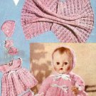 Vintage knitting pattern for baby dolls/ reborn layette Bestway B2499