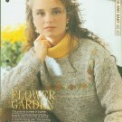 Knitting patterns for Ladies jumper in Butterfly stitch with yoke bordered with blanket stitch