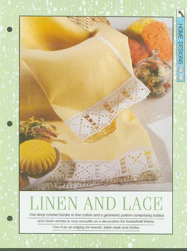 Crochet pattern for lovely geometric pattern border.