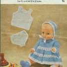 Vintage knitting pattern for lovely doll/reborn outfit  Robin 1969