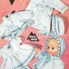 Vintage knitting pattern for dolls/reborns outfits Bestway 3125 10 in dolls