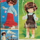 Vintage knitting pattern for 12 inch dolls From a Womans Weekly Magazine