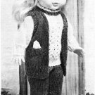 "Vintage Knitting pattern for 13"" 33cm standing type doll from a magazine"