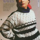 Knitting pattern for Ladies elegant sweater in stripes and lacy front & pockets