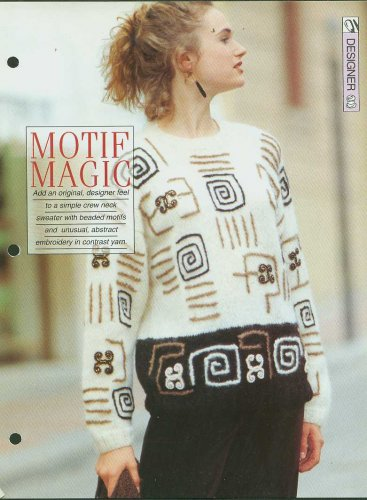 Knitting pattern for Ladies designer look sweater with beaded motifs & embroidery