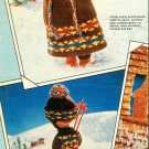 "Vintage Knitting pattern for 12"" 31cm dolls.complete Skiing outfit. PDF"