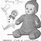 "Vintage knitting pattern for boy dolls/reborns. Sunny Jim. 10"" - 16"" 26 - 41cms. PDF"