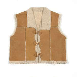 Kina Collection All-Natural Lamb Toggle Vest Made in New Zealand