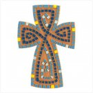 Earthenware Mosaic Cross - SHIPS FREE!!