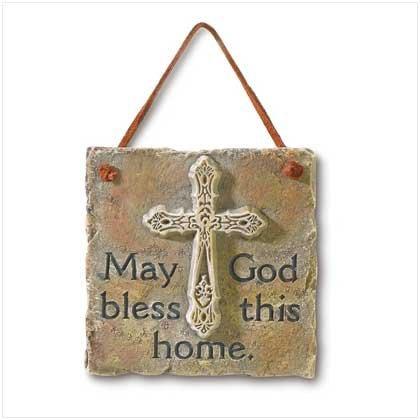 May God Bless This Home Plaque