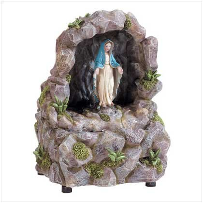 Virgin Mary Fountain - Desk Fountain - beautiful Virgin Mary