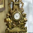European Style Baroque Cherub Mantle Clock - Cherub Clock