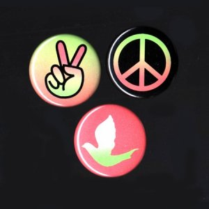 Peace Buttons (Set of 3)
