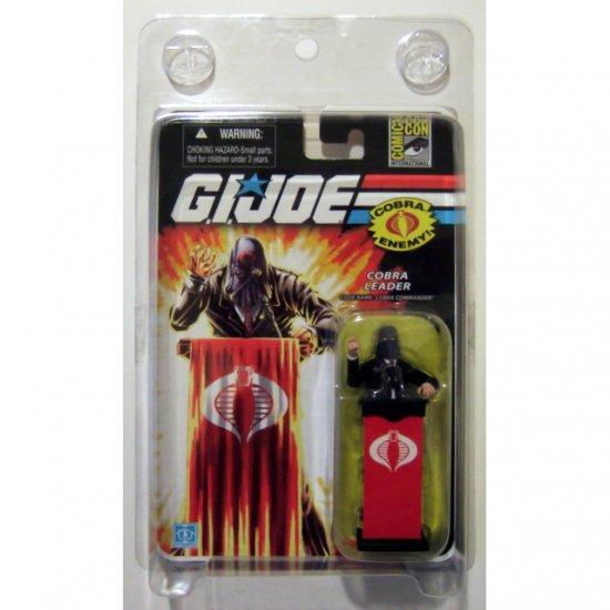 GI JOE 25th Anniversary Black Suit Cobra Commander SDCC Exclusive Brand New MOSC