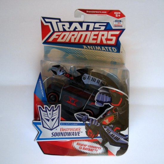 Transformers Animated Deluxe Class Electrostatic Soundwave MOSC Brand New