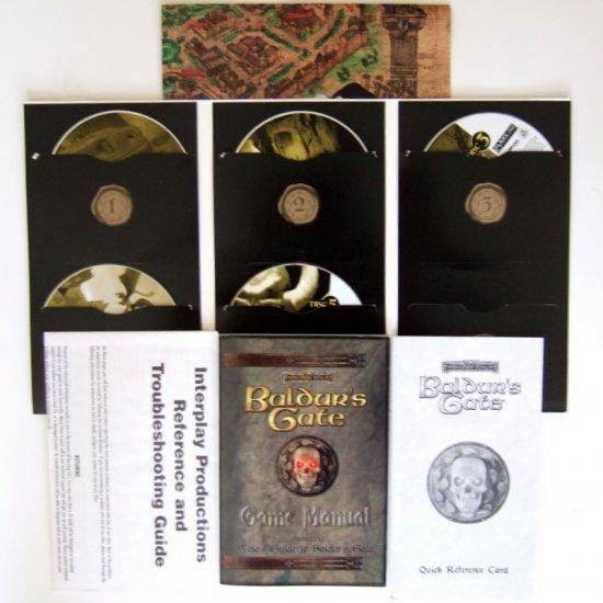 Baldur's Gate and Baldur's Gate: II Shadows of Amn PC Vintage Mint Complete Black Isle