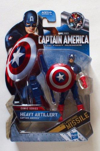 Captain America 2011 Heavy Artillery Captain America #002 3.75 Inch Brand New