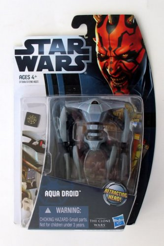 Star Wars The Clone Wars CW10 Aqua Droid TCW MOSC Brand New