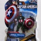 Captain America 2011 Jungle Trooper Captain America #013 3.75 Inch Brand New