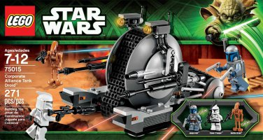 LEGO 75015 Star Wars Corporate Alliance Tank Droid Set Brand New