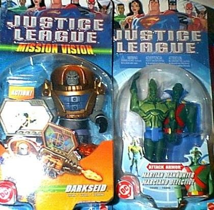 DC Justice League JLU 2003 MISSION VISION Darkseid Martian Manhunter figures