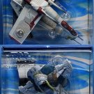 Micro Machines Action Fleet Star Wars: Republic Gunship Slave 1 Set Saga AotC 2002 Galoob Hasbro