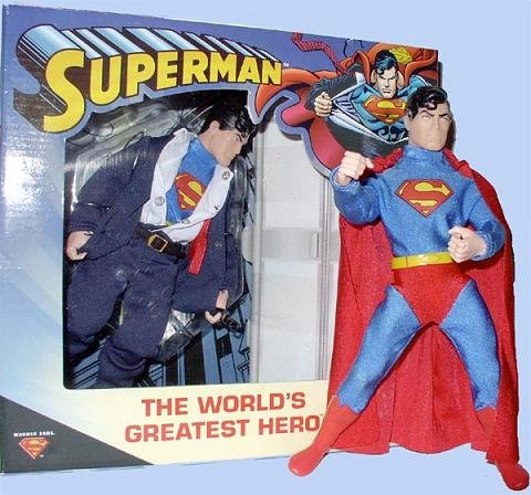 Clark Kent/Superman Mego WGSH SI DC Retro Clothed Action Figure Doll 70775 Target Exclusive (2000)